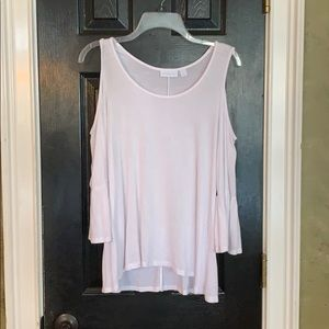 NY & Co white cold shoulder shirt small
